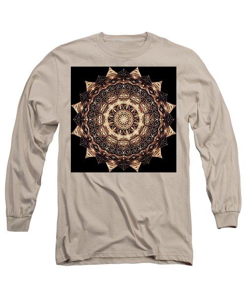 Wheel Of Life Mandala Long Sleeve T-Shirt