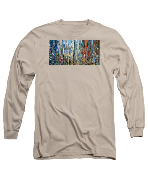 Where Wild Roses Bloom - Large Work Long Sleeve T-Shirt