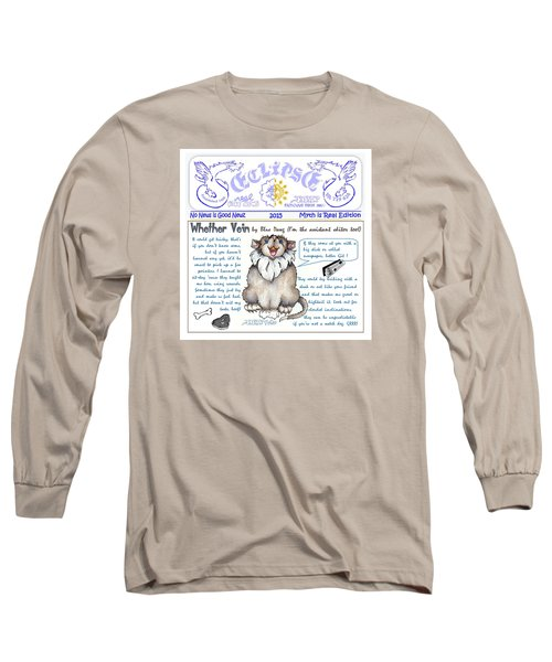 Real Fake News Blue Dawg Column Long Sleeve T-Shirt
