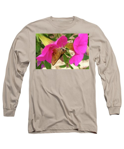Whirl-about Skipper Butterfly Long Sleeve T-Shirt by Donna Brown