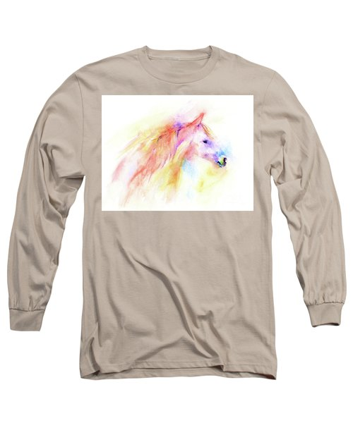 Long Sleeve T-Shirt featuring the painting Whisper by Elizabeth Lock