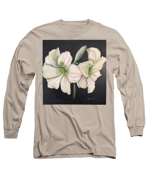 White Amaryllis  Long Sleeve T-Shirt