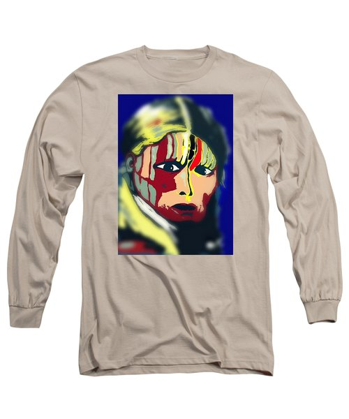 White Belly Sioux.1900. Popart Long Sleeve T-Shirt by Ayasha Loya