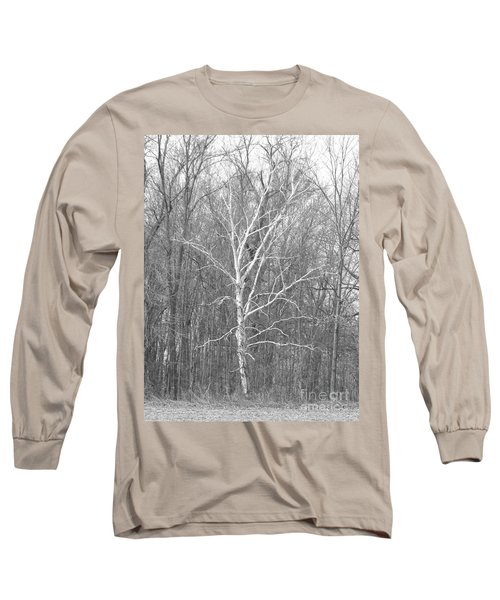 White Birch In Bw Long Sleeve T-Shirt
