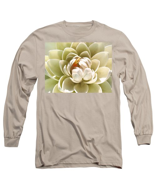 White Blooming Lotus Long Sleeve T-Shirt
