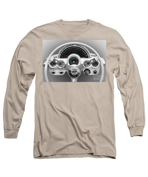 Long Sleeve T-Shirt featuring the photograph White C1 Dash by Dennis Hedberg