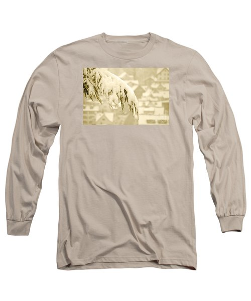 Long Sleeve T-Shirt featuring the photograph White Christmas - Winter In Switzerland by Susanne Van Hulst