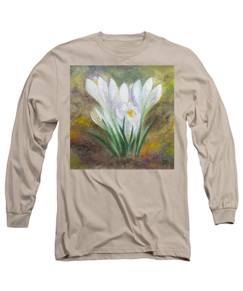 White Crocus Long Sleeve T-Shirt