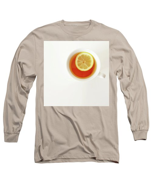 White Cup Of Tea With Lemon Long Sleeve T-Shirt