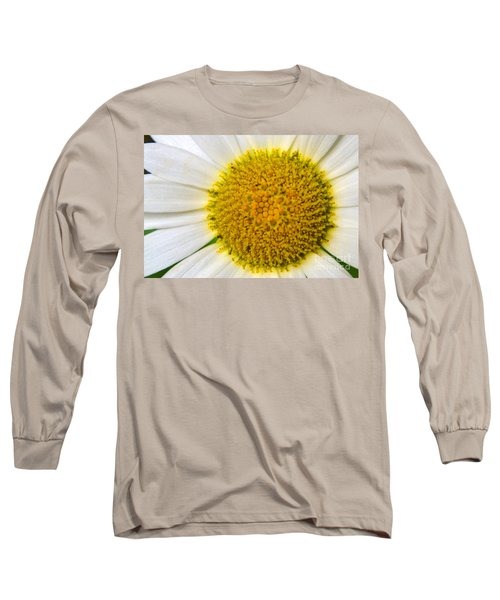 White Daisy Close Up Long Sleeve T-Shirt