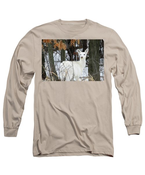 White Deer Vistor Long Sleeve T-Shirt by Brook Burling