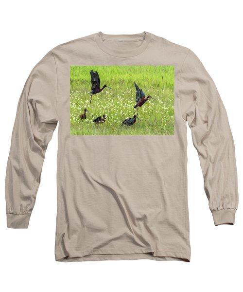 White-faced Ibis Rising, No. 1 Long Sleeve T-Shirt