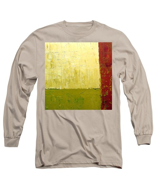 White Green And Red Long Sleeve T-Shirt