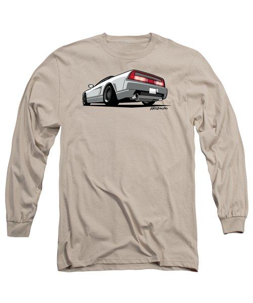 White Honda Acura Nsx Long Sleeve T-Shirt