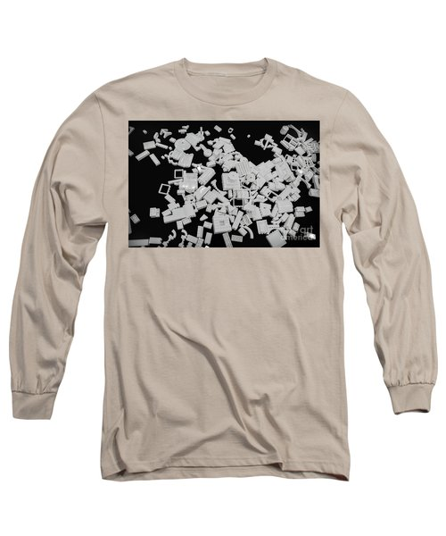 White Lego Abstract Long Sleeve T-Shirt