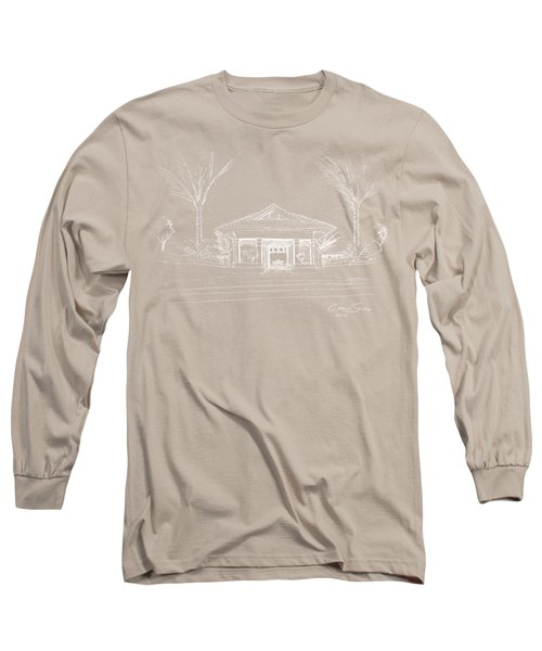 white lines on transparent background 10.28.Islands-8 Long Sleeve T-Shirt