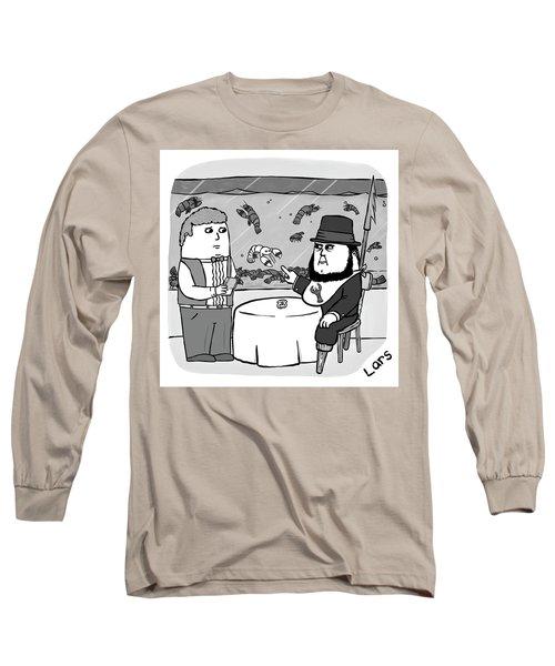 White Lobster Long Sleeve T-Shirt