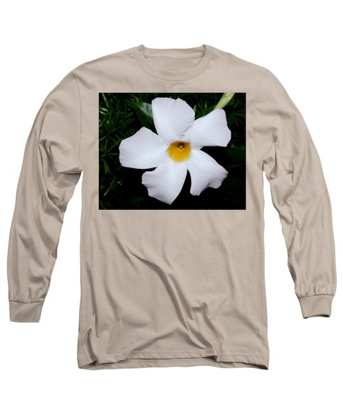 White Mandevilla Long Sleeve T-Shirt