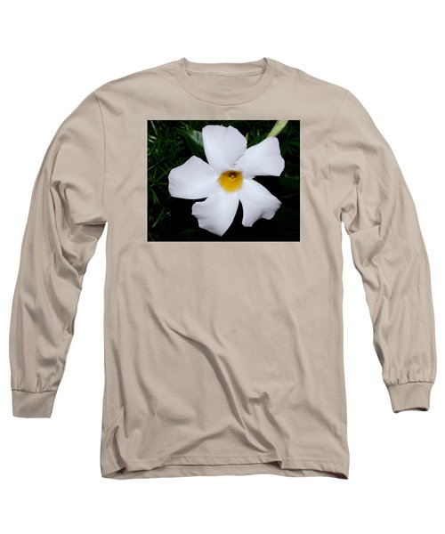 White Mandevilla Long Sleeve T-Shirt