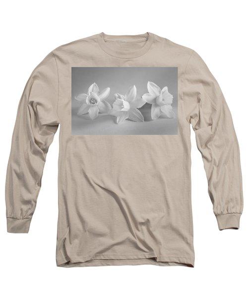 White Mini Narcissus Long Sleeve T-Shirt