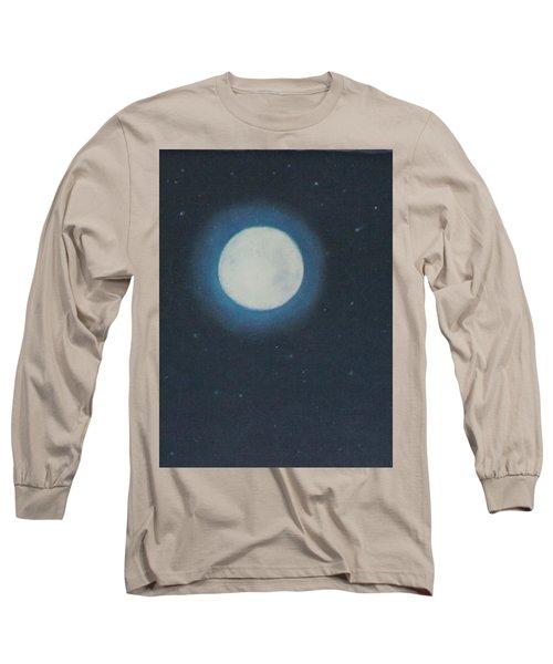 White Moon At Night Long Sleeve T-Shirt