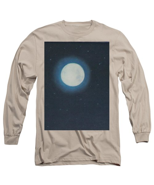 White Moon At Night Long Sleeve T-Shirt