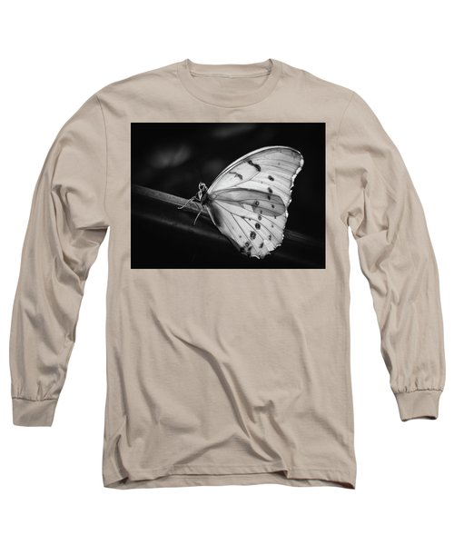 White Morpho Black And White Long Sleeve T-Shirt