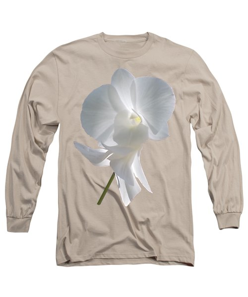 White Orchid Long Sleeve T-Shirt