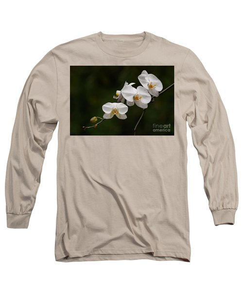 White Orchids Long Sleeve T-Shirt
