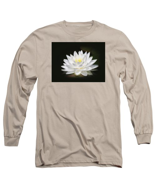 White Petals Glow - Water Lily Long Sleeve T-Shirt