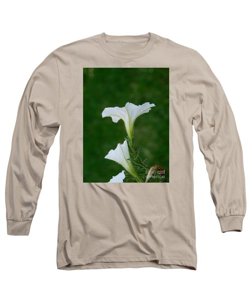White Petunia Blossoms Long Sleeve T-Shirt