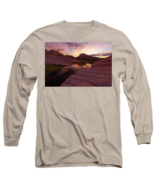 Long Sleeve T-Shirt featuring the photograph White Pocket Sunset by Jonathan Davison