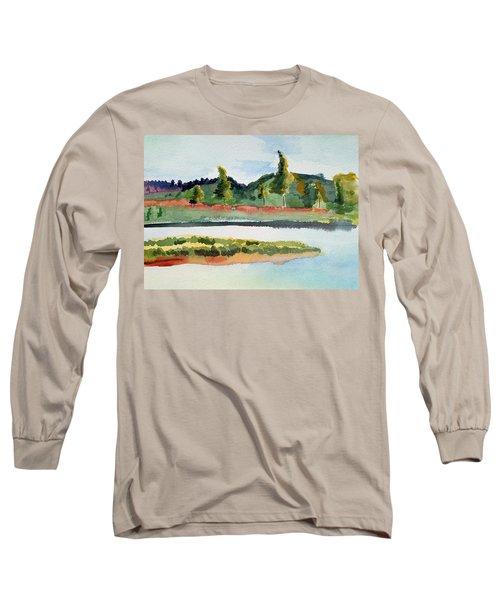White River At Royalton After Edward Hopper Long Sleeve T-Shirt