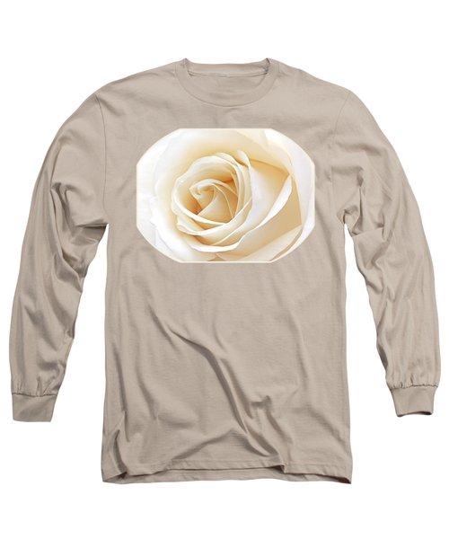 White Rose Heart Long Sleeve T-Shirt