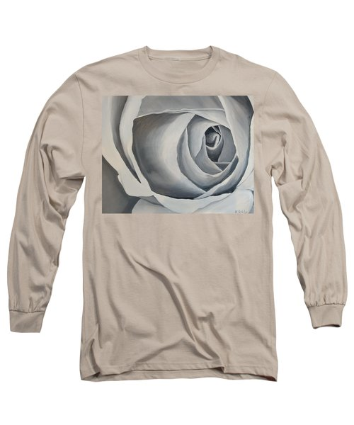 White Rose Long Sleeve T-Shirt