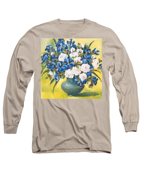 White Roses Long Sleeve T-Shirt by Alexandra Maria Ethlyn Cheshire