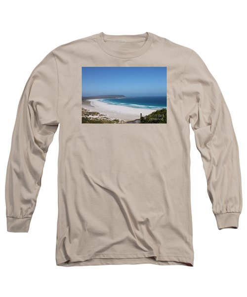 White Sand Beach Long Sleeve T-Shirt by Bev Conover