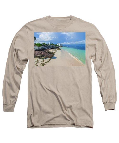 White Sandy Beach Of Cancun Long Sleeve T-Shirt