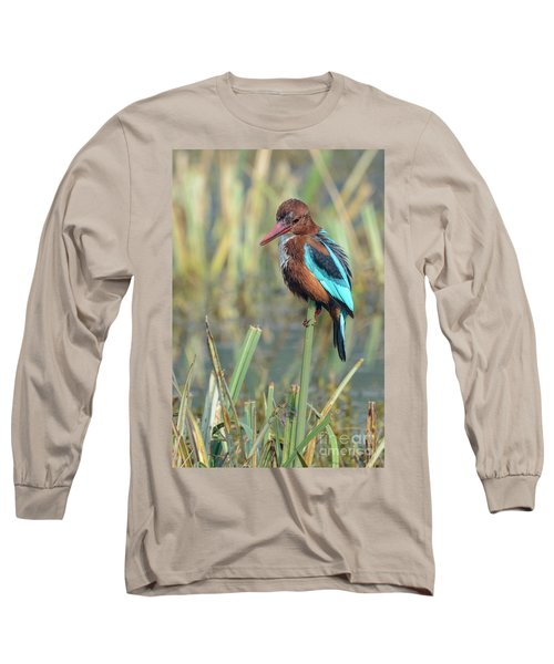 White-throated Kingfisher 13 Long Sleeve T-Shirt