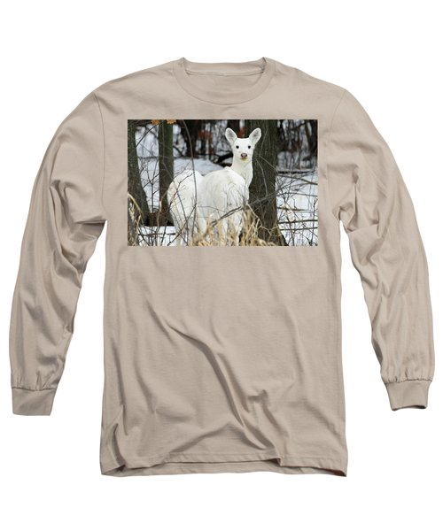 White Visitor Long Sleeve T-Shirt by Brook Burling
