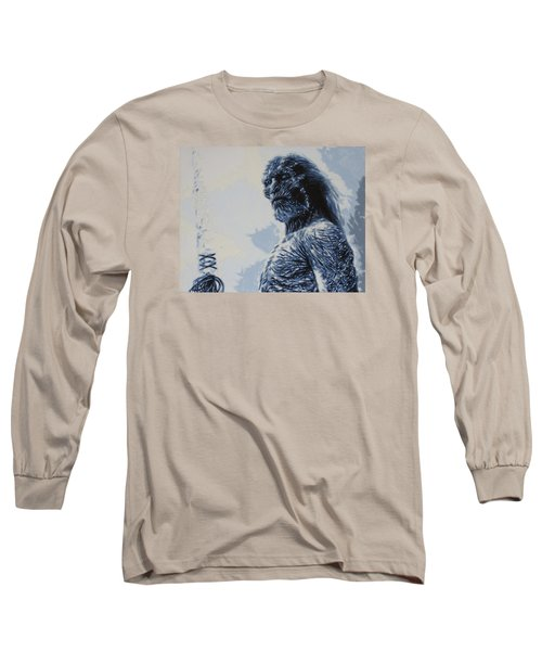 Long Sleeve T-Shirt featuring the painting White Walker by Luis Ludzska