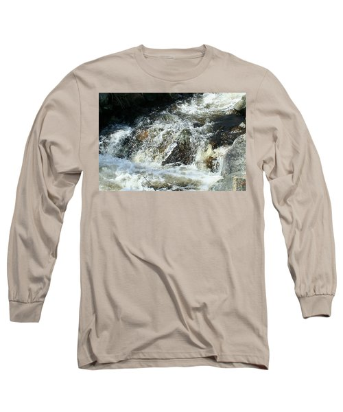 Long Sleeve T-Shirt featuring the digital art White Water by Barbara S Nickerson