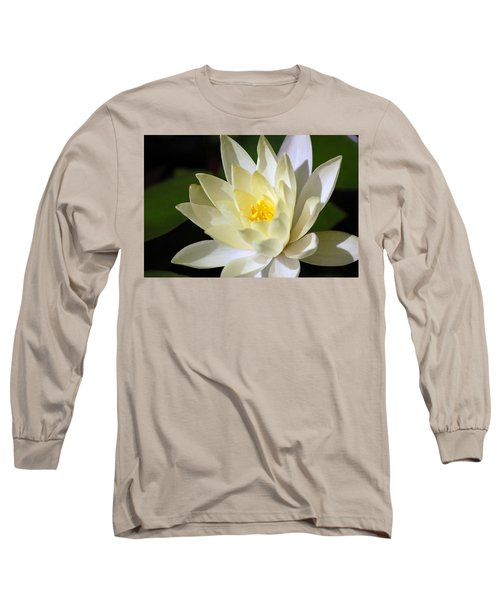 White Water Lily Long Sleeve T-Shirt by Donna Bentley