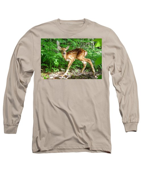 Whitetail Fawn Long Sleeve T-Shirt