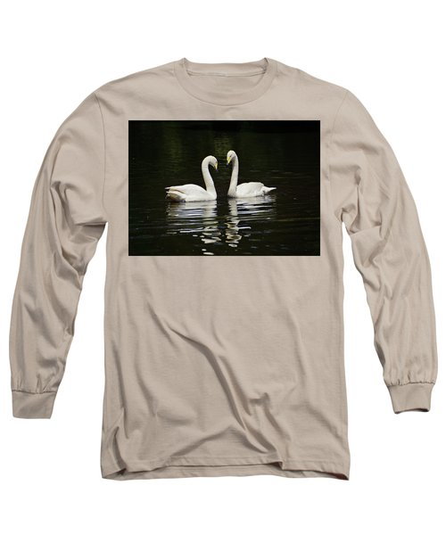 Long Sleeve T-Shirt featuring the photograph Whooper Swans by Sandy Keeton