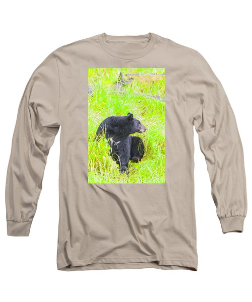 Who's There Long Sleeve T-Shirt by Harold Piskiel