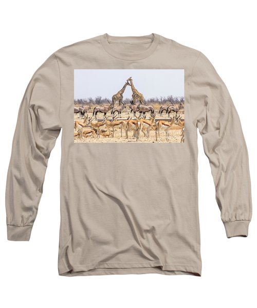 Wild Animals Pyramid Long Sleeve T-Shirt
