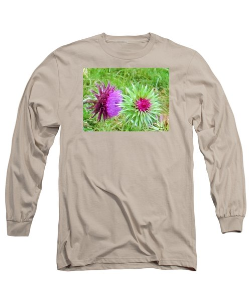 Wild Beauty In The Meadow Long Sleeve T-Shirt by Jeanette Oberholtzer