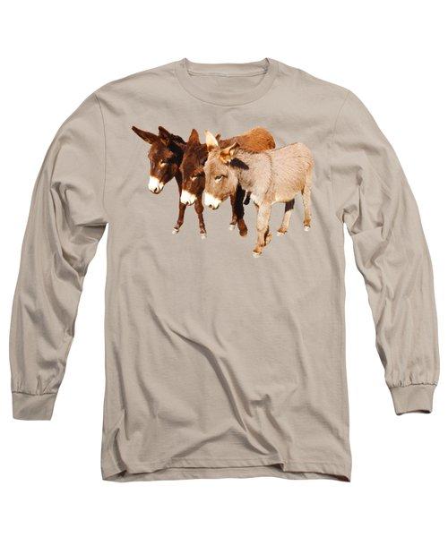 Wild Burro Buddies Long Sleeve T-Shirt by Sandra O'Toole