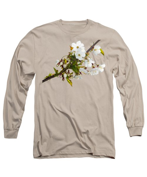 Long Sleeve T-Shirt featuring the photograph Wild Cherry Blossom Cluster by Jane McIlroy